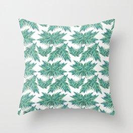 Djungel fever- retro palmtree Throw Pillow
