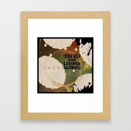 Your Cells are Living Libraries Framed Art Print