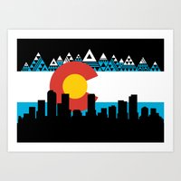 colorado Art Prints featuring COLORADO by Love Life Creative