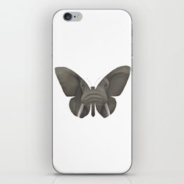 Elephant Butterfly iPhone Skin