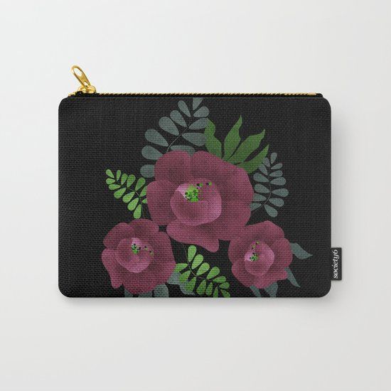 Burgundy roses. Carry-All Pouch
