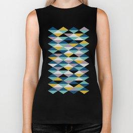 Geometric Pattern | Triangles Biker Tank