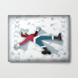 Snow Angel Unicorn Metal Print