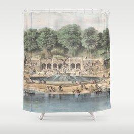Bethesda Terrace Central Park Vintage Artwork Shower Curtain