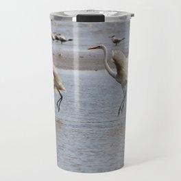 Egrets Hunting Travel Mug