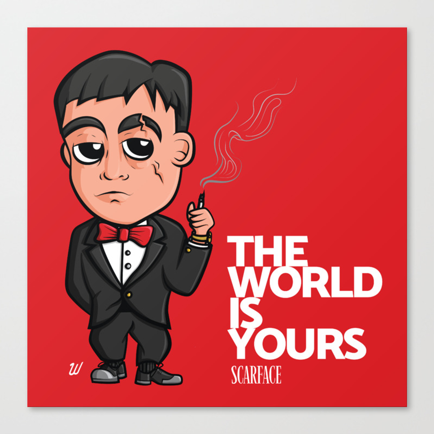 Scarface The World Is Yours Canvas Print By Wallacedesignco Society6