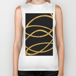 Golden Arcs - Abstract Biker Tank