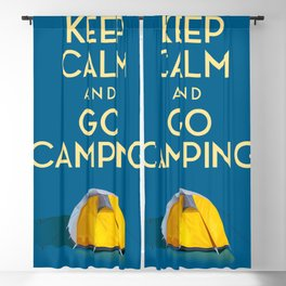 Keep Calm And Go Camping Blackout Curtain