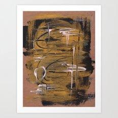 Gold/black abstract Art Print