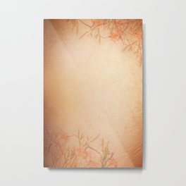 lily floral cloth abstract Metal Print