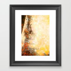 Cat's Stroll Framed Art Print