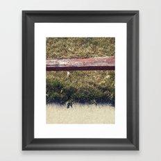 Ground // Grass // Grain Framed Art Print