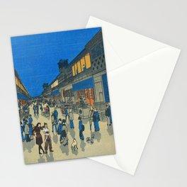 Night View of Saruwaka Town Asami and Korra Stationery Cards