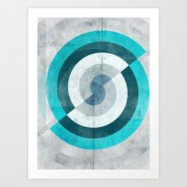Blue Chaos Art Print