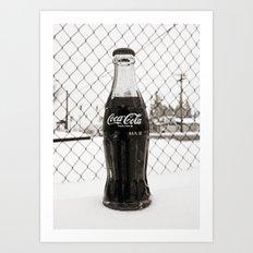 Frosty Coke Art Print