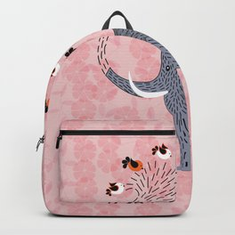 Happy Elephant and cute birds Backpack