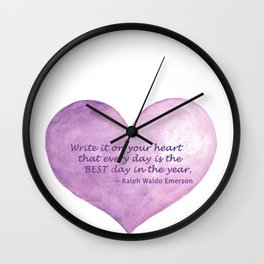 Heart Quote Wall Clock