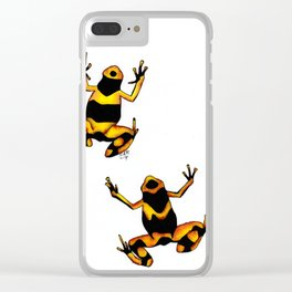 Leucomelas Clear iPhone Case