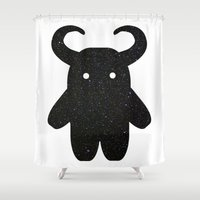 taurus Shower Curtains featuring Taurus by Leandra Lilly Dreyer