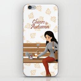 Cheers to Autumn iPhone Skin