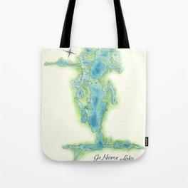 Go Home Lake - Nature Map Tote Bag