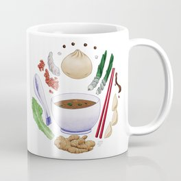 Dumpling Diagram Coffee Mug