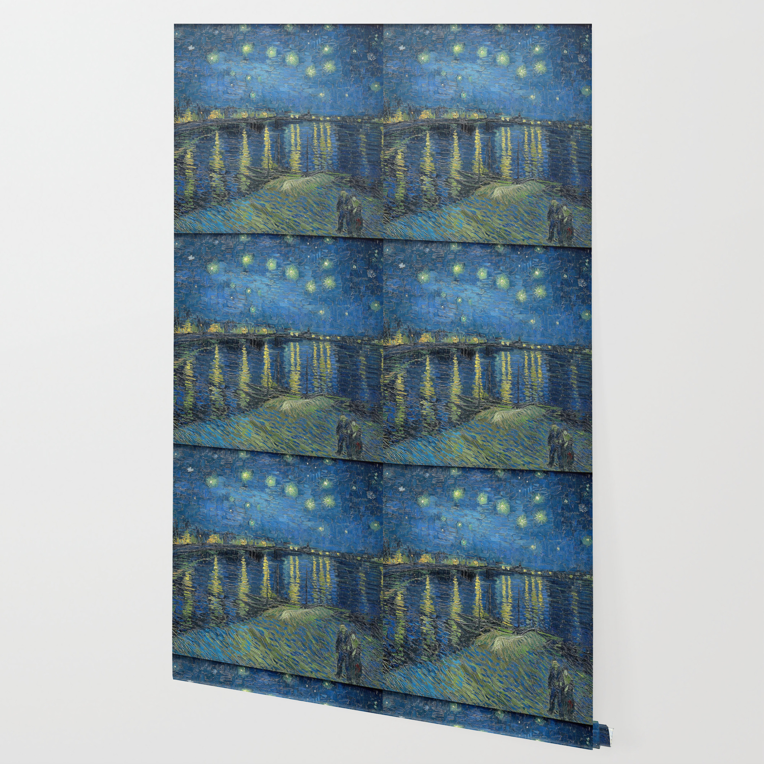 Starry Night Over Rhone Van Gogh Wallpaper By Iconicpaintings