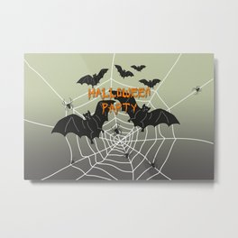 Bats- Halloween Party Metal Print