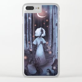 Pale Rainbow - Forest Clear iPhone Case