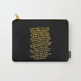 Perfect Places (Gold) Carry-All Pouch