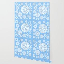 Winterland Blue Wallpaper