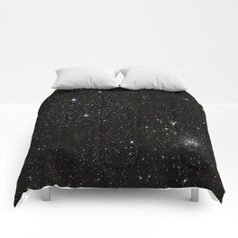 Space - Stars - Starry Night - Black - Universe - Deep Space Comforters