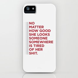 Someone, somewhere iPhone Case