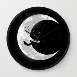 Moon Hug Wall Clock
