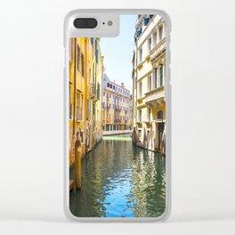 A Gondola Ride through Venice Clear iPhone Case