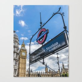 Westminster Station, London Canvas Print