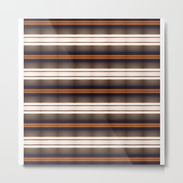Rich Rustic Brown Stripes Metal Print