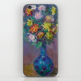 "Claude Monet ""Vase with chrysanthemes"" iPhone Skin"