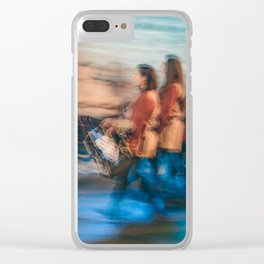 The tambourine players Clear iPhone Case