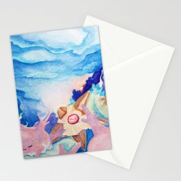 Sleeping Corsola Reef With Staryu Stationery Cards