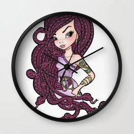 The Snake Mistress Wall Clock