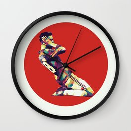 Bruno Fernandes on WPAP Pop Art Wall Clock