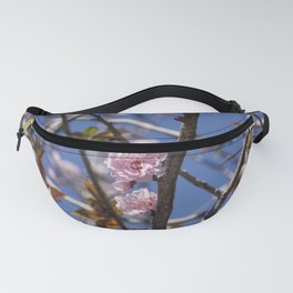 Branches of flowering Plum Fanny Pack