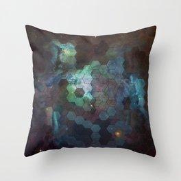 Nebula Hexagons Throw Pillow
