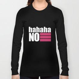 No T-shirt Black Long Sleeve T-shirt