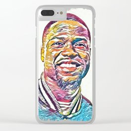 Kevin Hart Abstract Portrait Clear iPhone Case