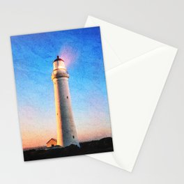 Cape Nelson Lighthouse Australia Watercolour Stationery Cards