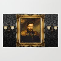 replaceface Area & Throw Rugs featuring Ricky Gervais - replaceface by replaceface