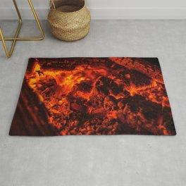 Fascinating Awesome Bonfire Scorching Heat Coals Ultra HD Rug