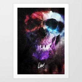 Geometric Skull v2 Art Print